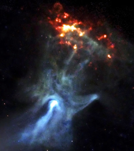 hand of god space