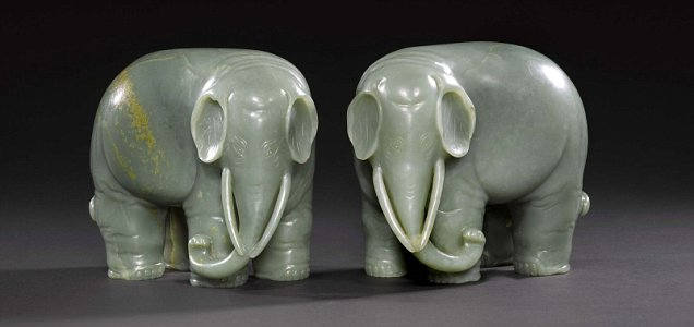 Jade elephants