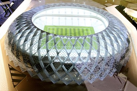 A model of the Al-Wakrah stadium, one of the proposed 2022 World Cup stadiums in Qatar (Pic: EPA)