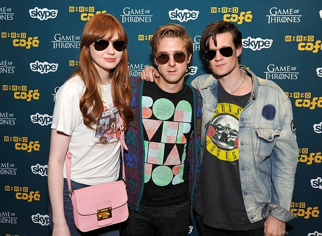 Matt Smith was joined by co-stars Karen Gillan and Arthur Darvill at the Comic Con convention in San Diego