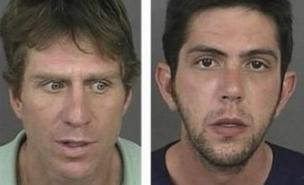 Two men from Colorado stand accused of driving their dead friend around town before spending his cash at a strip club. (Photo: Denver Police)