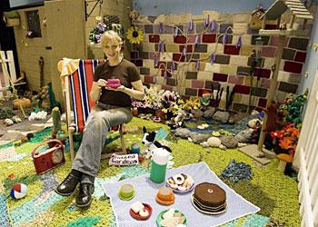 Jane Bolsover's knitted garden