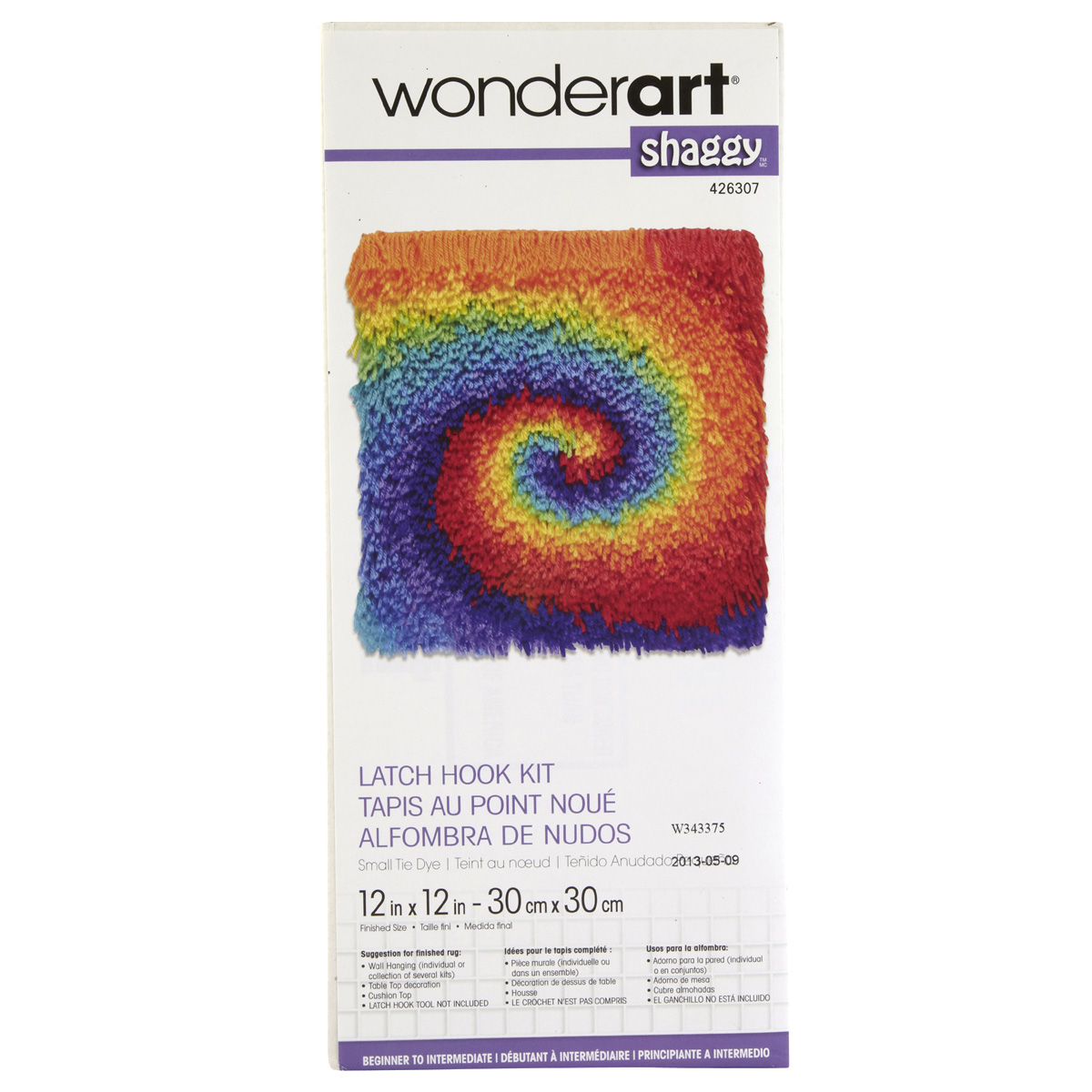 Wonderart Shaggy Latch Hook Kit TieDye