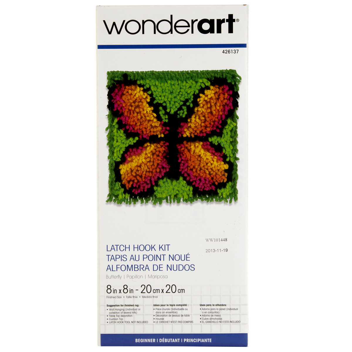 Wonderart Latch Hook Kit Butterfly