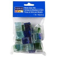 ArtMinds Mosaic Glass Tiles, Blue Green