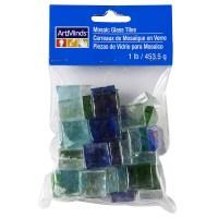 ArtMinds Mosaic Glass Tiles, Blue Green