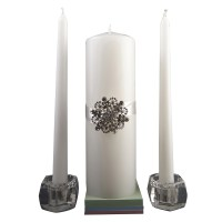 Celebrate It Occasions Unity Candle Set with Brooch