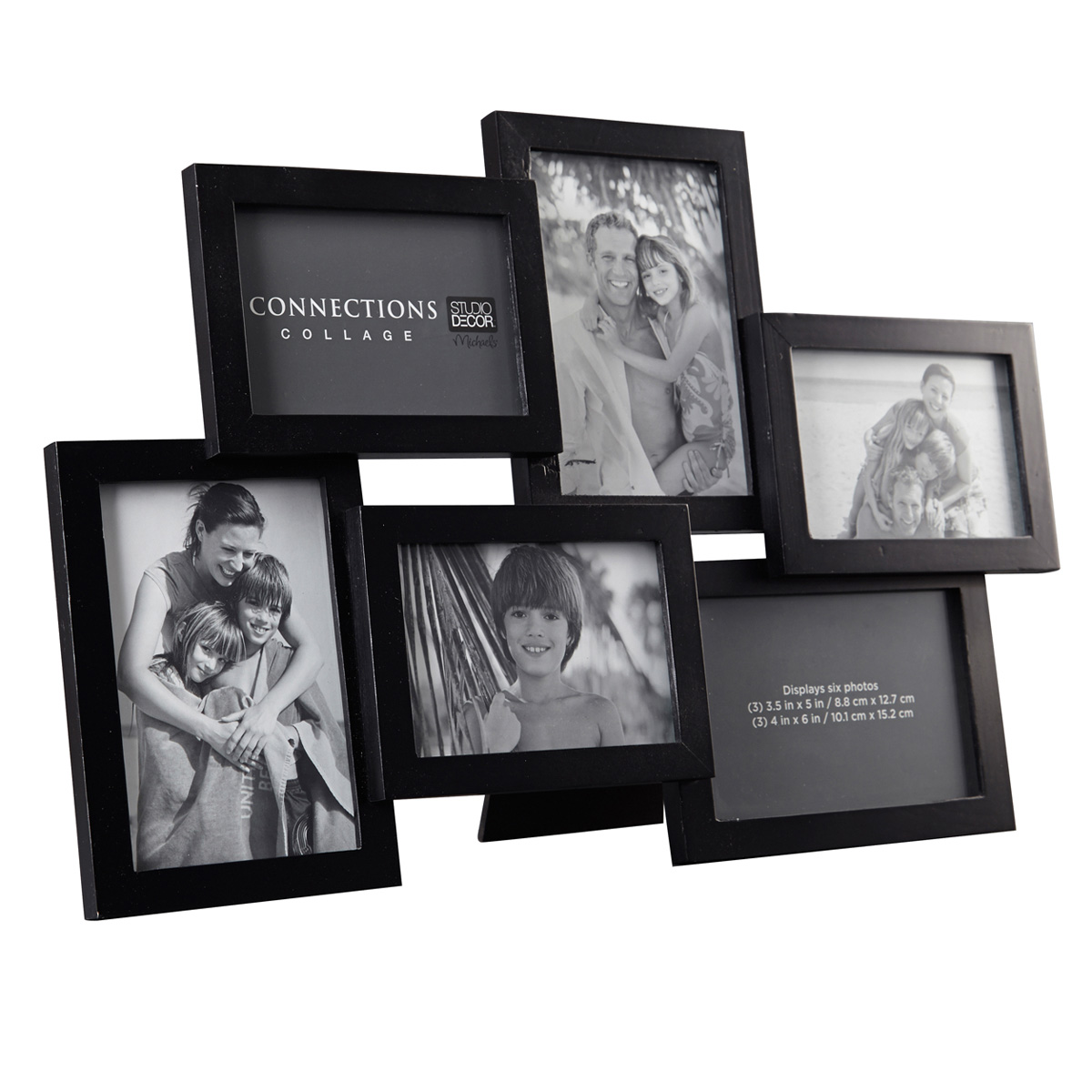 Black 6 Opening Collage Frame Expressions By Studio Dcor