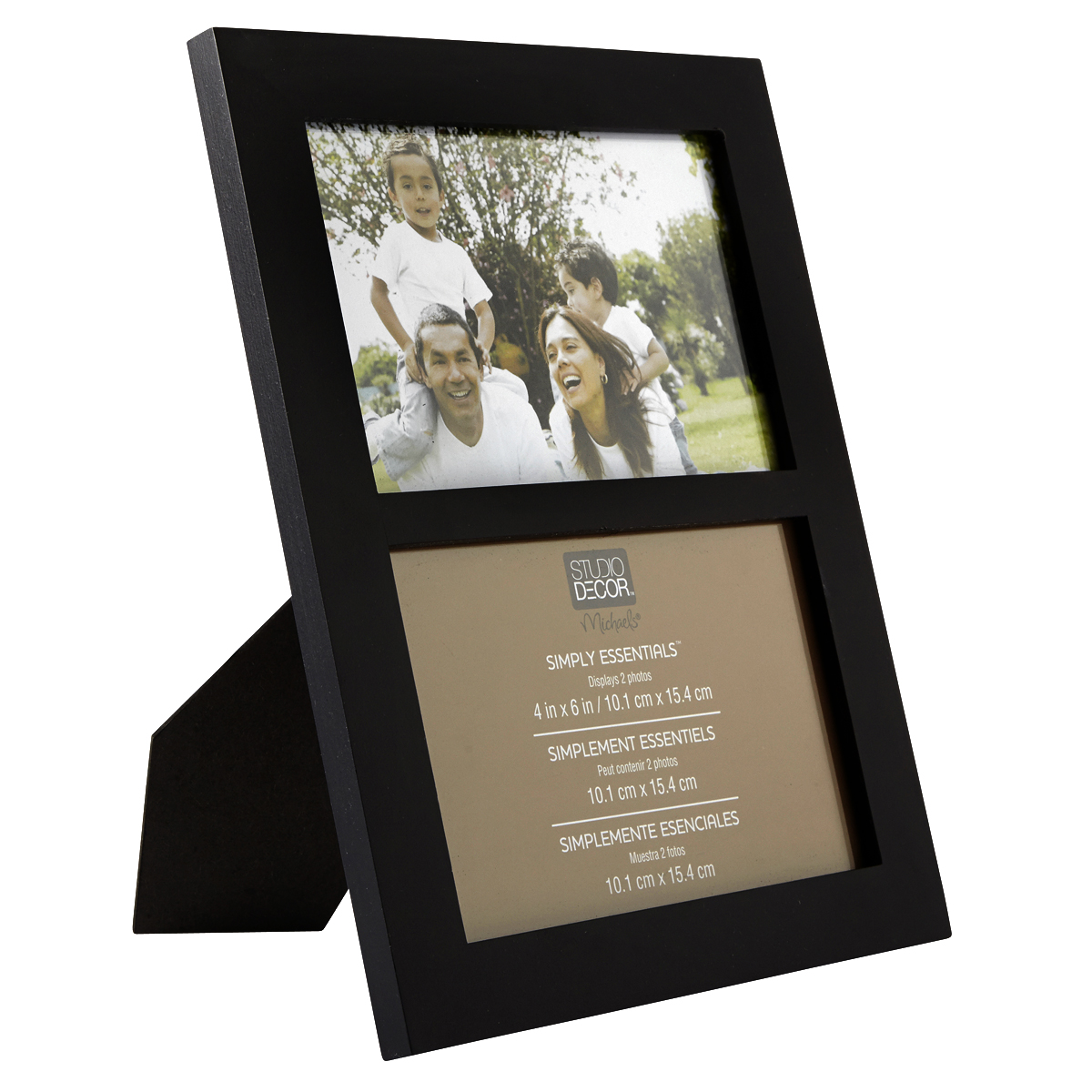 """Black 2-opening Collage Frame 4"""" X 6"""" Simply Essentials"""