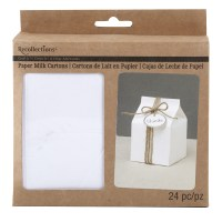 Recollections Craft It Paper Milk Cartons, White