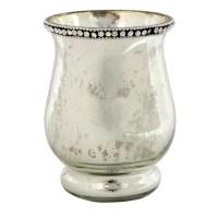 Ashland Jeweled Mercury Glass Candle Holder