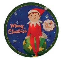 "9.5"" Pre-Lit Elf on the Shelf Round ""Merry Christmas ..."