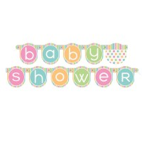 Pastel Baby Shower Banner | Baby Shower Decorations