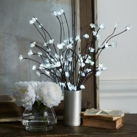 Lighted Floral Branches in a Vase