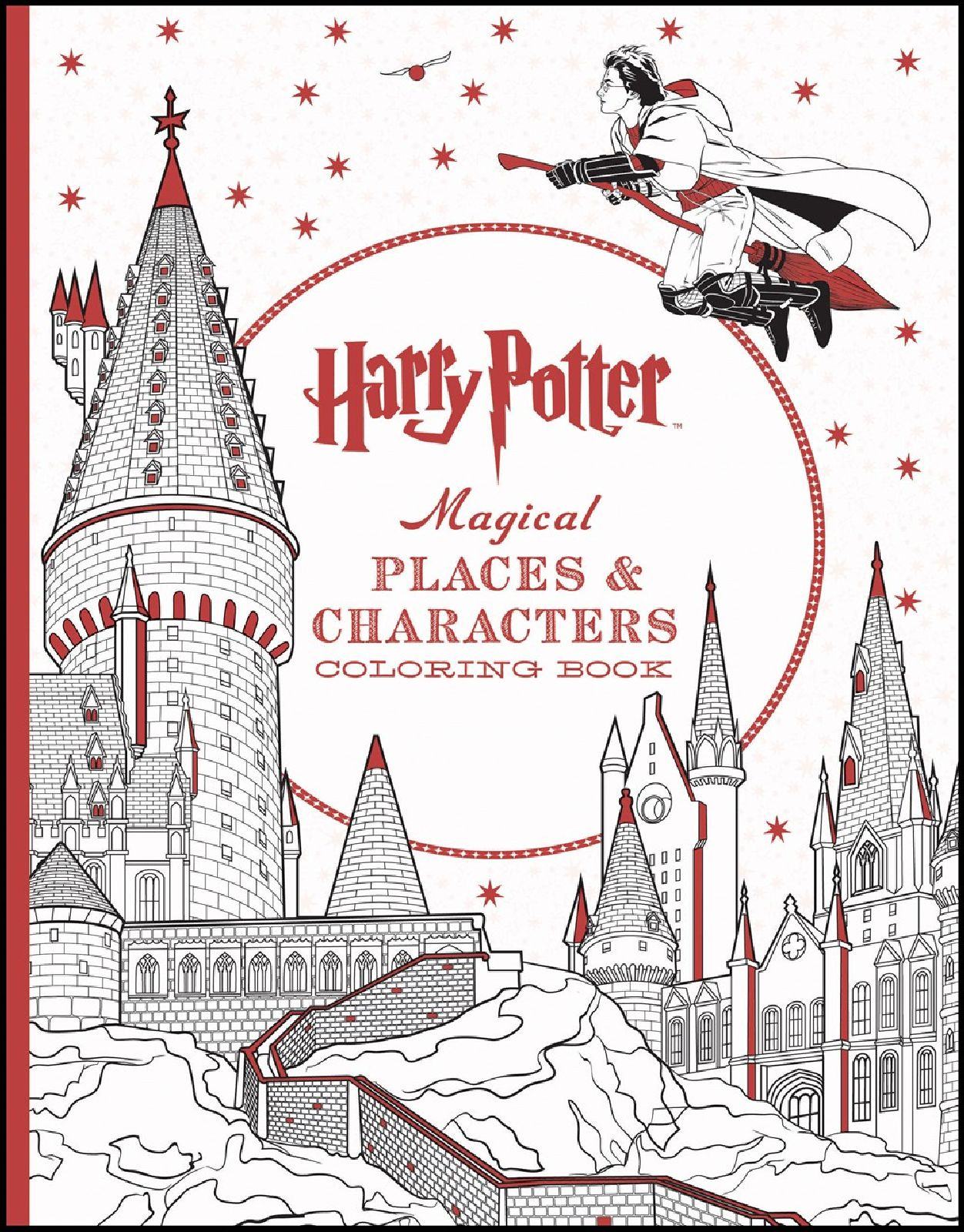Doctor Coloring Harry Potter Magical Places Characters Book