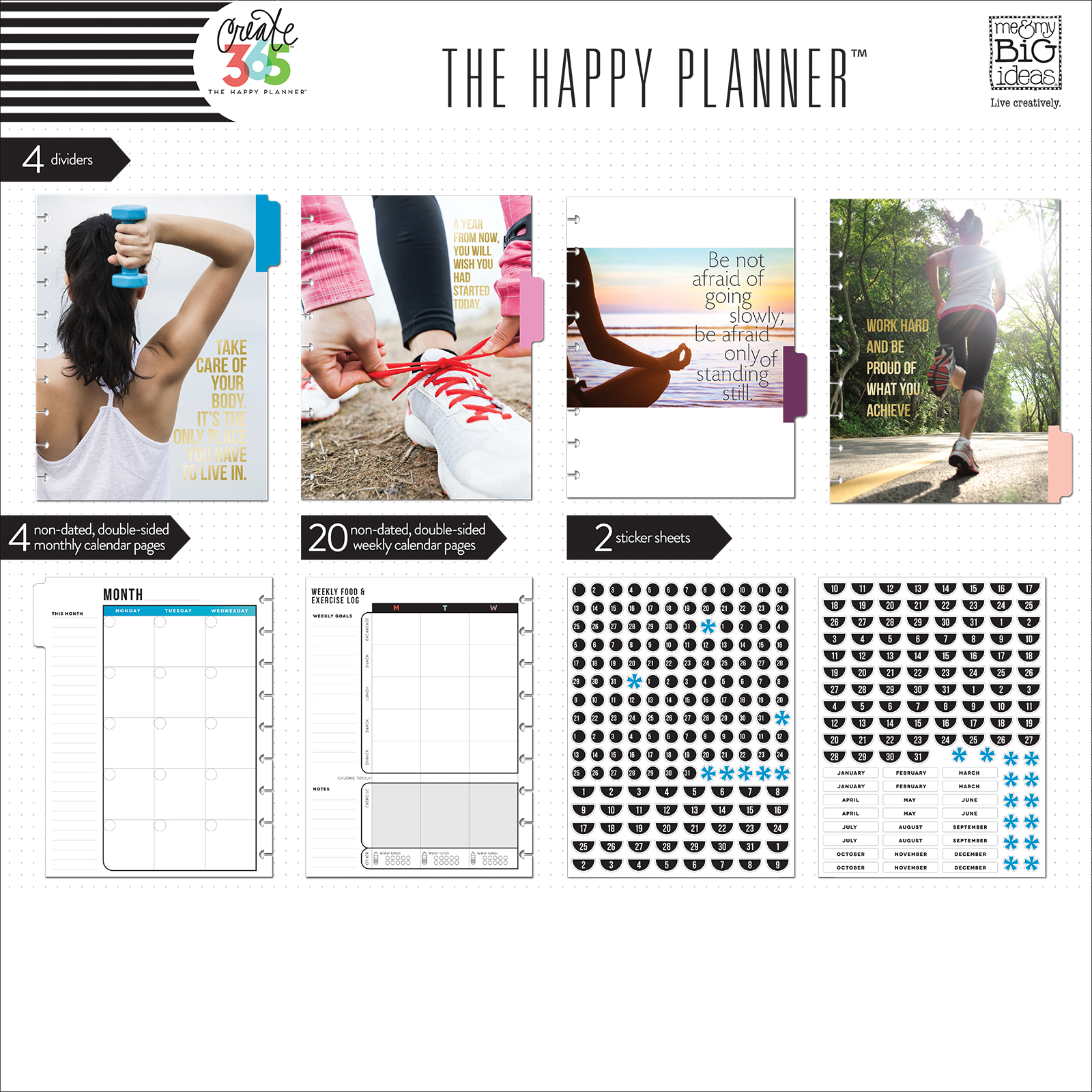 Create 365 The Happy Planner Fitness Extension Pack