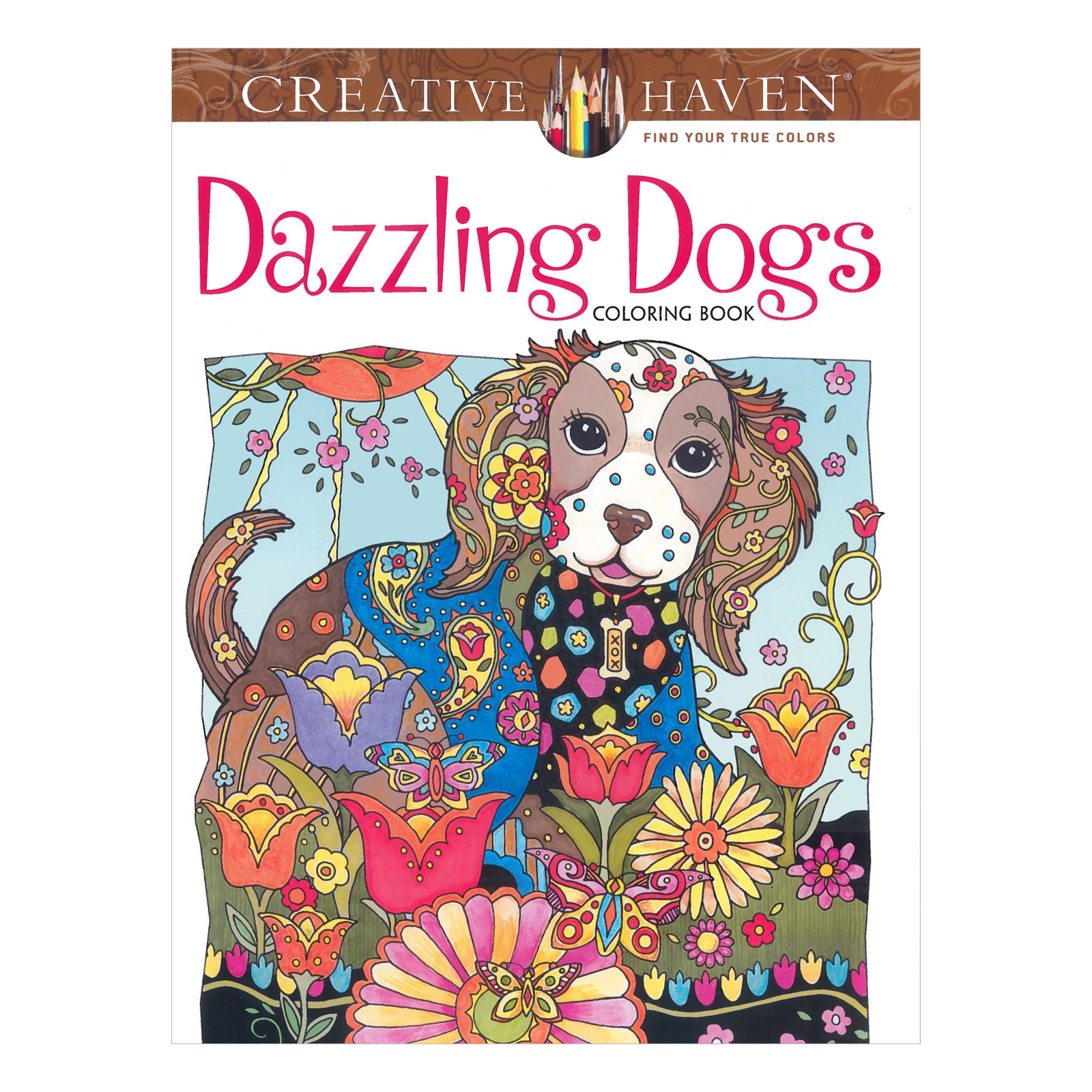 Creative Haven Dazzling Dogs Coloring Book Next