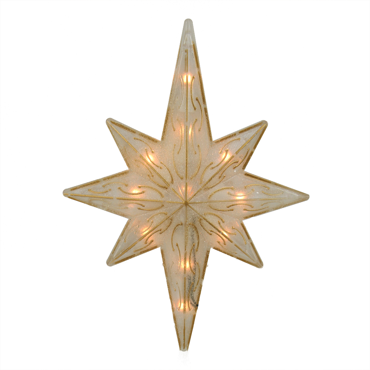 1175quot Lighted Gold Glitter Star of Bethlehem Christmas