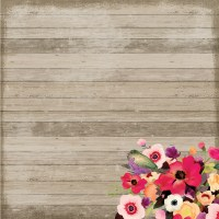 Find the Wood Planks Floral Scrapbook Paper By ...