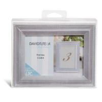 David Tutera Silver Wedding Table Picture Frame Set