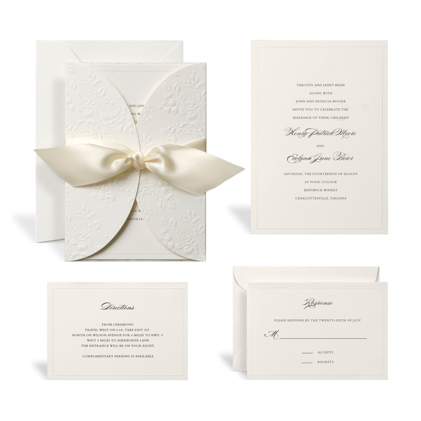 The Embossed Ivory Wrap Wedding Invitation Kit By Celebrate It At Michaels