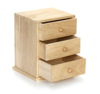Small Three Drawer Wooden Cabinet