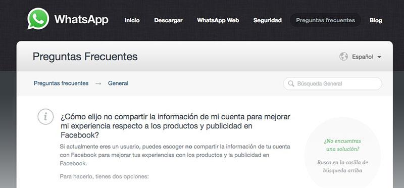 Información Personal de WhatsApp: Facebook, No Me La Chupes