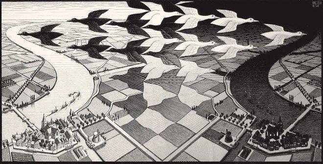 Noche y dia MC Escher