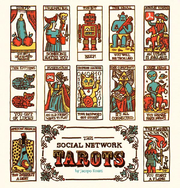 Social network tarots