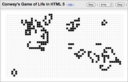 El Juego de la vida de Conway, ahora en HTML5