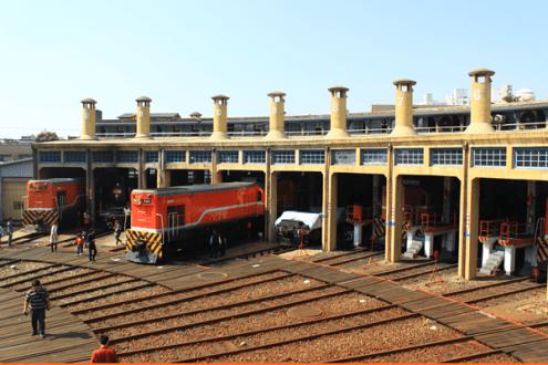 彰化》彰化扇形車庫,全台唯一火車的停車場