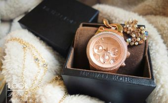 SHOPBOP折扣碼&購物教學 Michael Kors玫瑰金鎖鏈三眼錶