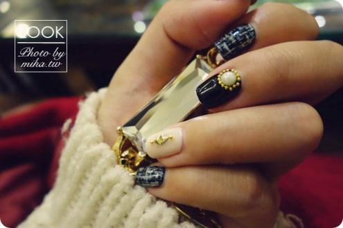東區晶漾美甲沙龍:冬天指尖上的全手繪華麗精緻溫暖毛呢凝膠指甲
