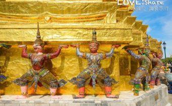 泰國》曼谷大皇宮 臥佛寺 四面佛 金碧輝煌的泰國必去觀光景點