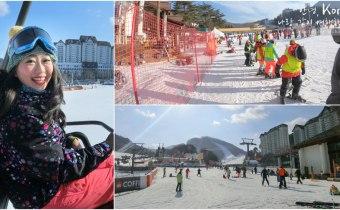 首爾滑雪一日遊》冬奧指定賽場 韓國龍平滑雪場 雪道最多最好玩