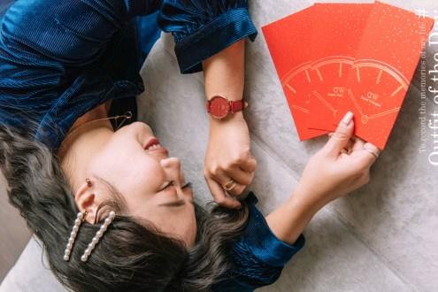 新年情人節限定Daniel Wellington楓葉紅系列皮質腕錶 情人節Elan Unity系列禮盒折扣