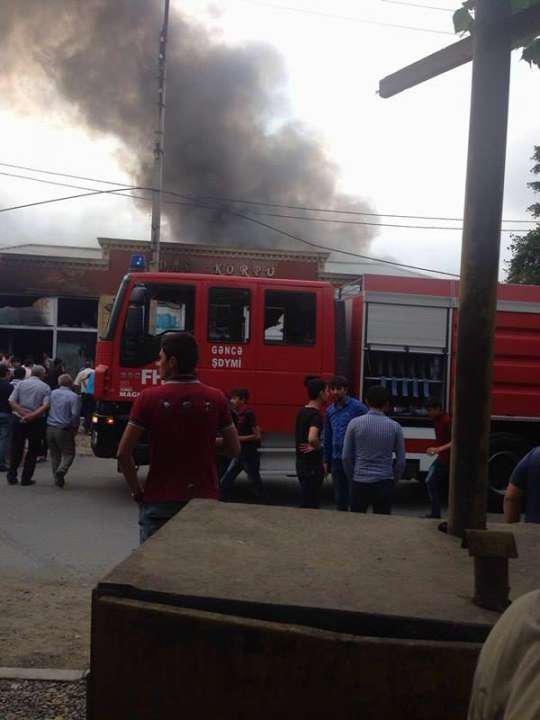Gəncədə bazar yandı- VİDEO - FOTO
