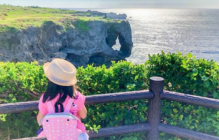 沖繩親旅行│萬座毛有著像象鼻的奇岩~沖繩名勝景觀之一。跟著導遊玩沖繩兜兜風(第二天)