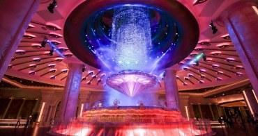 【澳門銀河酒店】必看!澳門銀河超浮誇「運財銀鑽」鑽石秀,順遊百老匯大街吃美食