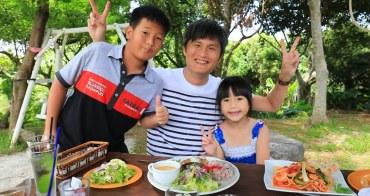 【沖繩美食】瀨底沙灘 Fuu Cafe:森林系隱密咖啡店,意外有好吃PIZZA與漢堡排