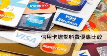 2018信用卡繳燃料費免手續費,信用卡繳燃料費(燃料稅)優惠比較