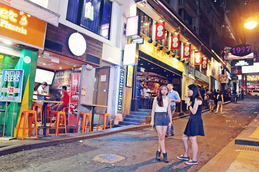 香港中環景點 | 蘭桂坊 Hard Rock Cafe 硬石餐廳 夜生活 夜店 酒吧