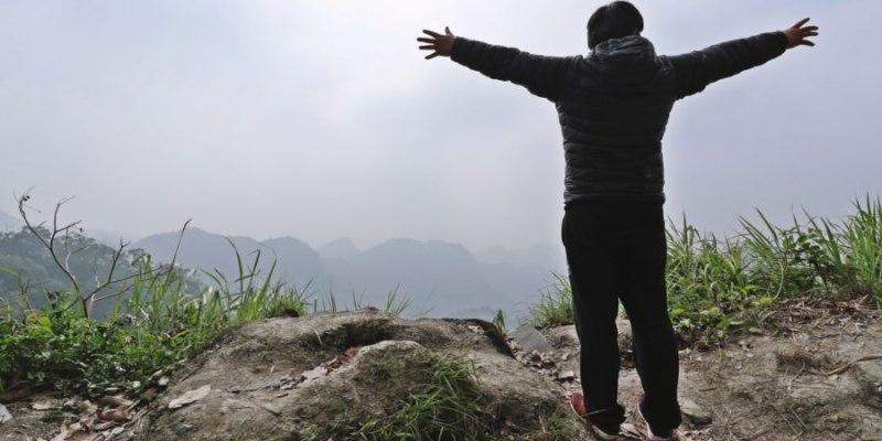 台中太平景點 赤崁頂 跑山 看風景 眺望視野還不錯 霧多 雲多