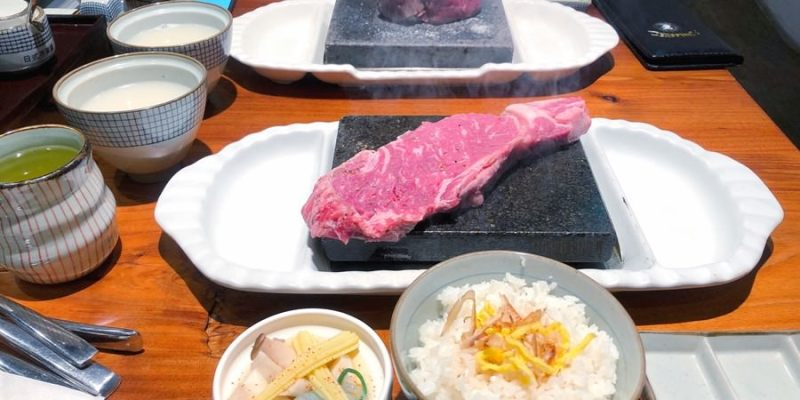 台中豐原美食 凱恩斯岩燒洋食堂 400度火熱岩石DIY岩燒牛排 牛排套餐吃超飽 西式料理+日式口味