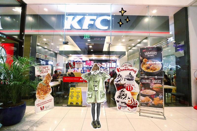 菲律賓美食 肯德基 KFC AYALA SUBIC 蘇比克灣 最大購物商城 Harbor Point Mall 就是要吃炸雞配飯喝濃湯!