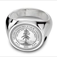 Stanford Sterling Silver Round Signet Ring at M.LaHart & Co.