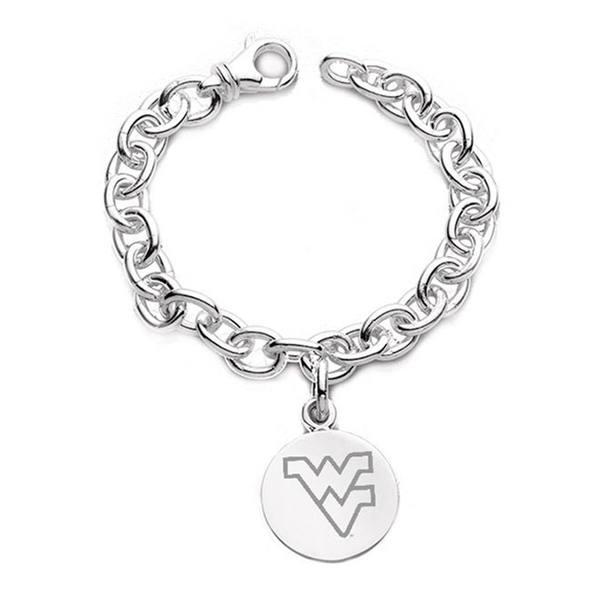 West Virginia University Sterling Silver Charm Bracelet at