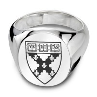 Harvard Business School Sterling Silver Oval Signet Ring ...