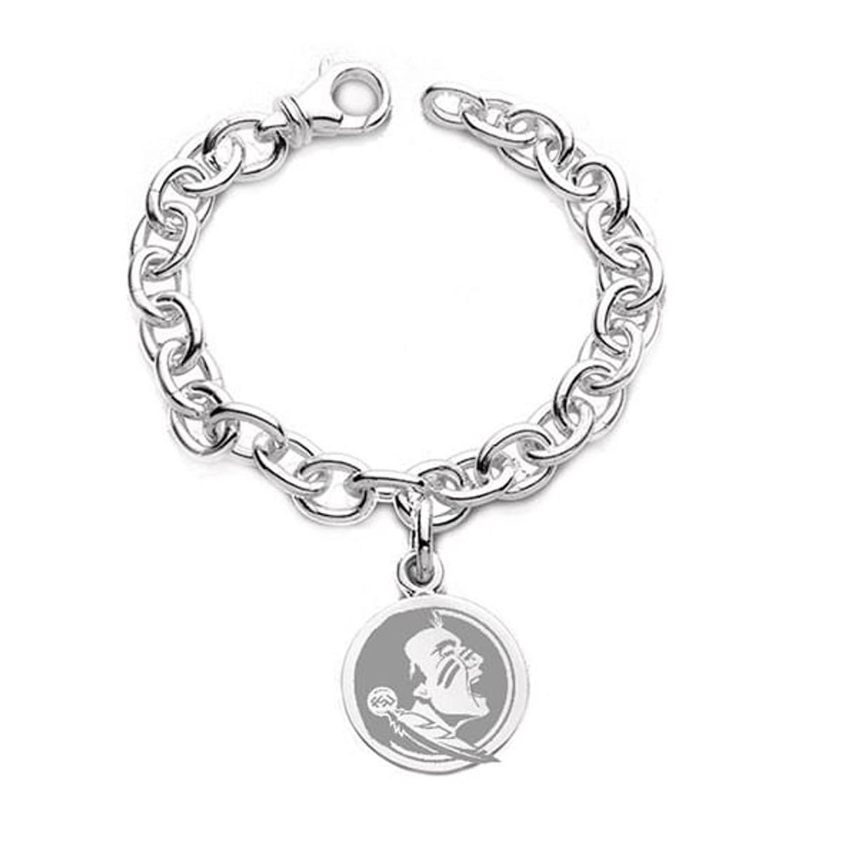 Florida State University Sterling Silver Charm Bracelet at