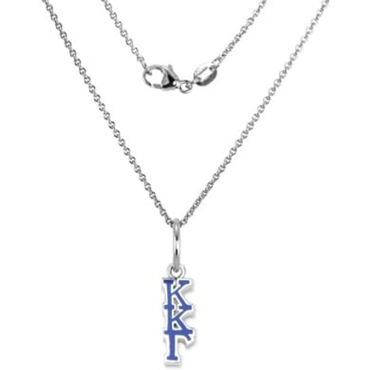 Kappa Kappa Gamma Sterling Silver Necklace with Greek